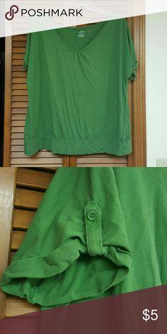 Cropped shirt GUC button sleeve shirt Lane Bryant Tops Tees - Short Sleeve