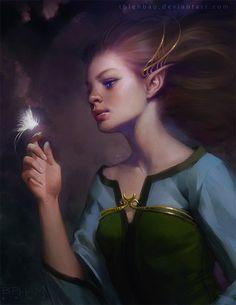 Bao Pham (digital) Magical Creatures, Fantasy Creatures, World Of Fantasy, Fantasy Art, Dragons, Elf Art, Female Elf, Elves And Fairies, Creature Feature