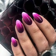 Perfecting nail art can appear to be a challenging undertaking. Ombre nails design is a good approach to create the the majority of your favourite colors. It's because gradient nails seem elegant and impressive. Trendy Nail Art, Nail Art Diy, Diy Nails, Cute Nails, Ombre Nail Designs, Acrylic Nail Designs, Nail Art Designs, Acrylic Nails, Nails Design