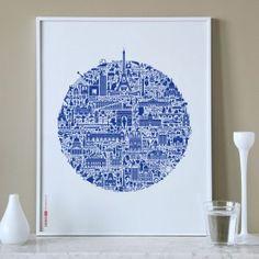 Paris City Art Print