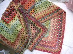 Handspun Yarn Baby Blanket