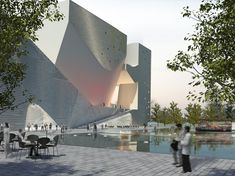 First Museum of the new Eco City / Ecology and Planning Museum in Tianjin, China by Steven Holl - eVolo Steven Holl Architecture, Museum Architecture, Commercial Architecture, Sustainable Architecture, Architecture Details, Landscape Architecture, Ancient Architecture, Futuristic Architecture, Contemporary Architecture