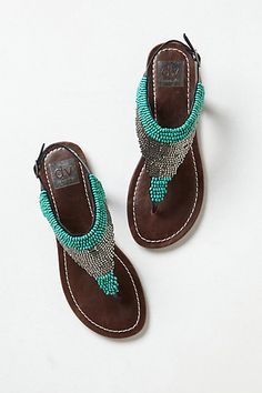 3524f48225b6 Masika Beaded T-Straps  anthropologie Strap Sandals