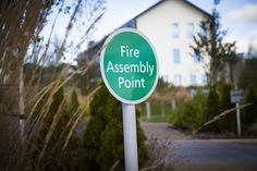 details | fire assembly point #pictosign #safetysignage Wayfinding Signs, Signage, Helping People, Fire, Outdoor Decor, Dresses, Gowns, Dress, Day Dresses
