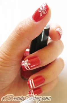 not a fan of red, but I like this design and how simple it is to re-create!