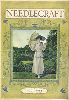 This Needlecraft Magazine is dated July 1919. It has 26 pages with vintage craft and needlework projects. There is a very vintage Cream of Wheat ad that would be classic framed. This magazine is in ni