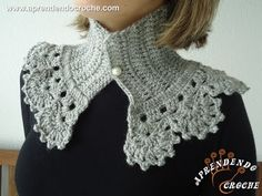 Gola de Croche Paris - Aprendendo Crochê Beautiful crochet collar or neck warmer (scarf or cowl)