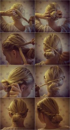 Braided Hairstyle - I tried this and it was super cute! ~
