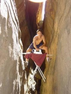 Serious extreme ironing. Quite possibly the worst sport ever?