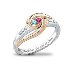 """Together Forever In Love"" Personalized Birthstone Ring in Fall 2012 from Bradford Exchange on shop.CatalogSpree.com, my personal digital mall."