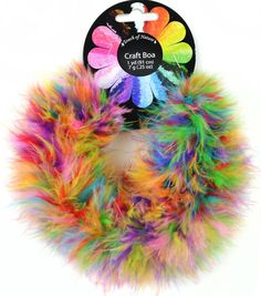 Feather Fluffy Craft Boa 7 gram 1 yard (91.4 cm) Bubble Gum Balls (Turquoise, Candy Pink, Tangerine, Fluorescent Green, Sunflower, Cranberry, Dark Magenta), 1 piece