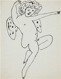 ANDY WARHOL (1928-1987) Angels two ink drawings on paper each: 11 x 8½ in. (27.9 x 21.6 cm.) Drawn circa 1954.
