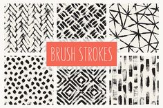 Brush Strokes. Seamless Patterns v.1