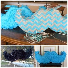 Mustache Pinata 30 X 11 X 4.5 by UncleBucksPartyStuff on Etsy, $26.00