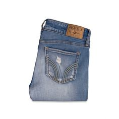 Hollister Bryden Skinny Jeans Girls Bottoms ($50) ❤ liked on Polyvore featuring jeans, pants, bottoms and denim