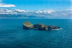 La seule maison de l'île de Elliðaey, Islande
