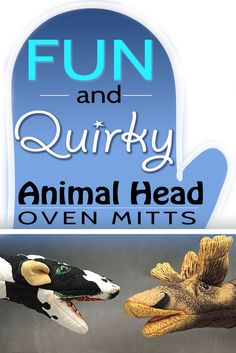 Fun Quirky And Cool Animal Head Oven Gloves - Novelty Animal Oven Mitts That Make Great Gifts!