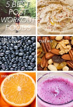 The 5 best foods to eat after a work out #health #fitness tips