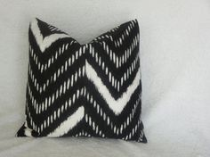 Black chevron pillow cover 20x20 decorative by CoolRoomDecor