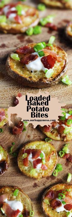 These loaded baked potato bites are a super easy party appetizer that people of all ages will love. #loadedbakedpotato #partyfood #partyappetizer