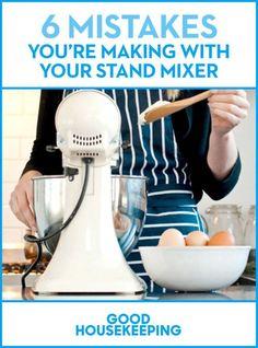 6 Mistakes You're Making With Your KitchenAid Stand Mixer Kitchen Aid Recipes, Kitchen Hacks, Kitchen Tools, Kitchen Gadgets, Kitchen Appliances, Smart Kitchen, Kitchen Kit, Kitchen Makeovers, Big Kitchen