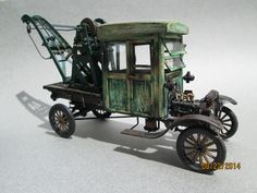 Scratch built 1/25th scale wooden cab 1925 model TT Ford Wrecker by Tom Woodruff