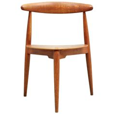 Hans Wegner Heart Chair | From a unique collection of antique and modern chairs at https://www.1stdibs.com/furniture/seating/chairs/
