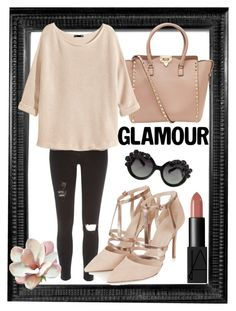 """""""Bez naslova #4"""" by daiiisyy ❤ liked on Polyvore featuring River Island, Valentino, H&M, Topshop and NARS Cosmetics"""
