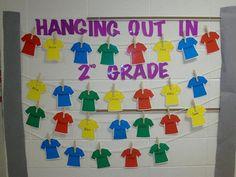 Hanging T shirt Bulletin Board.