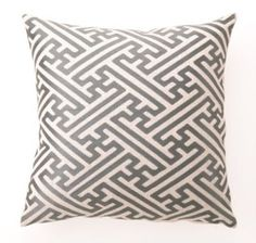 """Make your mark with this stylish patterned pillow in a soft linen fabric.  """"Hatch"""" design offers geometric interest for a modern feel. $85"""