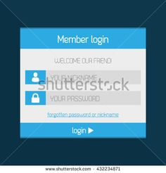Member Login Interface Modern Flat Design