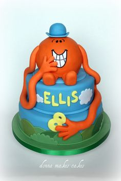 Mr Men  Little Miss Cake By OfF ThE CuFf CaKeS Mr Men And - Mr tickle birthday cake
