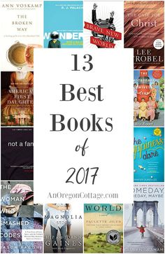 13 of the best books read in 2017 with short reviews #books #reviews If you like historical, faith based, and light, clean reads this list is for you!