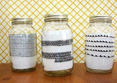 porcelain markers on mason jars - OK, this is more ON jars than in jars but it's close enough.