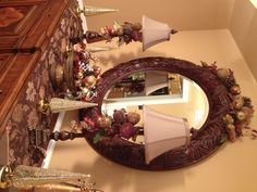 # Holiday Decor Dining Room Buffet I love the sugar fruit and mercury glass christmas tree that light on a timer