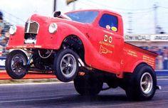 Vintage Drag Racing - Gasser wheel stand