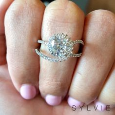 We love this gorgeous swirl split shank engagement ring from Sylvie! Style shown: Split Shank Engagement Rings, Classic Engagement Rings, Designer Engagement Rings, Halo Engagement, Diamond Engagement Rings, Bling Wedding, Dream Wedding, Dream Ring, Wedding Ring Bands
