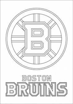 boston bruins logo coloring page