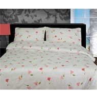 Image of Flannelette Duvet Cover Lilly Pink