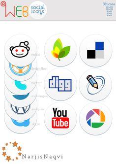 Web Social #Icons