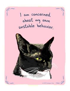 Black Cat per Darla 8x10 stampa della pittura di tinyconfessions