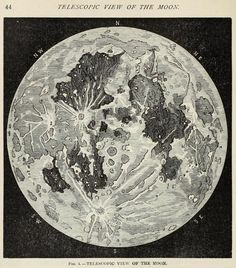 The telescopic view of the Moon. Gately's universal educator. 1883.