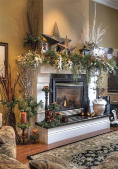 16 Fabulous Christmas Mantels Absolutely Beautiful Mantle Decorating Fireplace Decorations Decorate