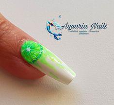 """43 mentions J'aime, 0 commentaires - Aquaria Nails (@aquarianails) sur Instagram: """"Coucou Nouvelle vidéo dispo sur ma chaîne, allongement en gel sur chablon. Tuto nail art citron…"""" Aquarium Nails, Instagram, Peek A Boos, Lemon"""