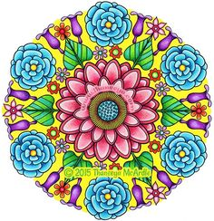 The Flower Mandalas Coloring Book Features 30 Pages Of Fanciful Designs Each In A