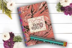 Beauty Pink Swirl personal diary custom notebook by Teakberry