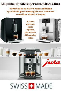 As máquinas de café automáticas Jura têm acabamentos muito elegantes, materiais de alta qualidade e duráveis. Popcorn Maker, Kitchen Appliances, Coffee Maker Machine, Law School, Diy Kitchen Appliances, Home Appliances, Domestic Appliances