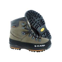 S-KARP Omu FXT, Brown - Waterproof Shoes for Mountaineering and Backpacking, Vibram sole Waterproof Shoes, Mountaineering, Trekking, Backpacking, Hiking Boots, Trail, Footwear, Urban, Casual