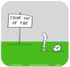 Think out of the box from Harolds Planet, by Last Lemon, the creative studio of Lisa Swerling & Ralph Lazar