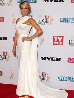 Sandra Sully arrives at the 2014 Logie Awards at Crown Palladium on April 27, 2014 in Melbourne, Australia.
